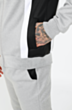 Chandler Panel Poly Tracksuit in Grey