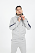 Arm Panel Poly Tracksuit in Grey