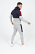 Colour Block Poly Tracksuit in Grey