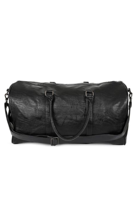 HISCOLUMN DESIGN FAUX LEATHER DUFFLE BAG