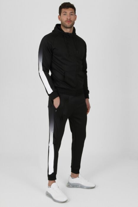 Ombre Panel Tracksuit in Black