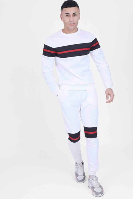 Off-White Panelled CrewNeck Tracksuit