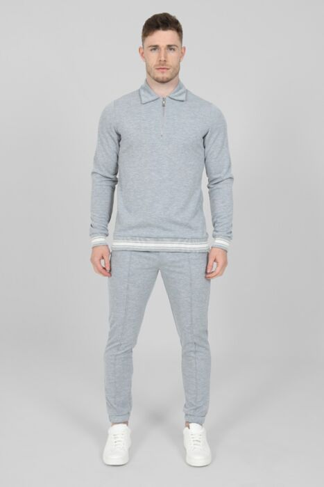 Jacquard Lux Tracksuit in Grey