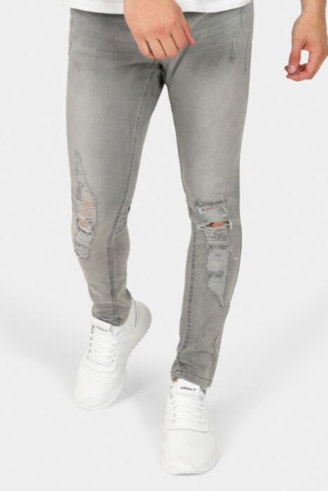 Skinny Fit Distressed Jeans