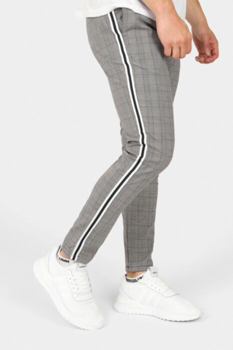 Slim Fit Trousers With Stripe Side Tape