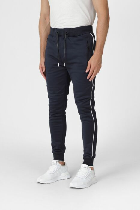 Court Line Tracksuit in Navy - Bottom