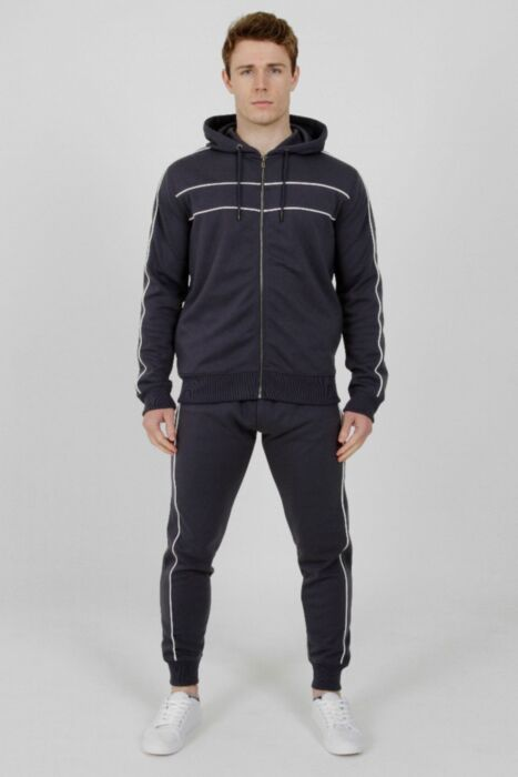 Tricot Hood Tracksuit in Petrol Blue