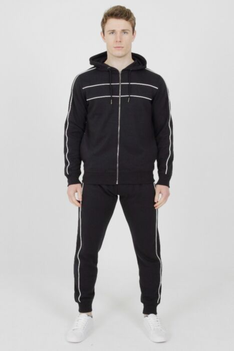 Tricot Hood Tracksuit in Navy