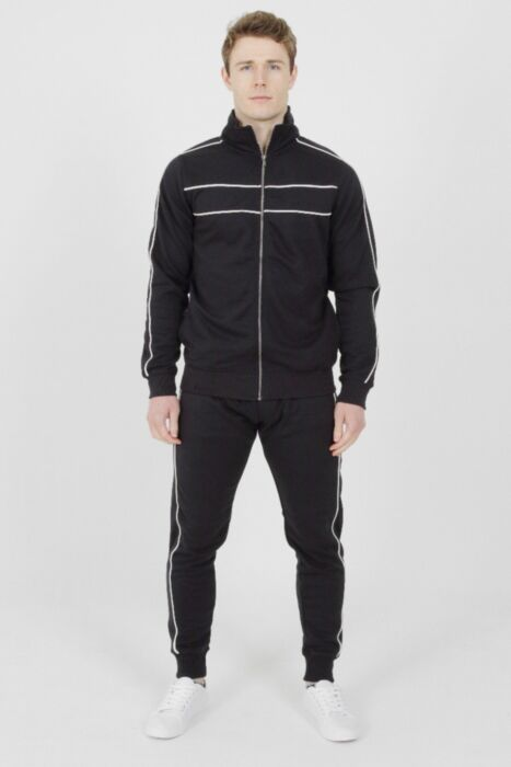 Tricot Collar Tracksuit Navy