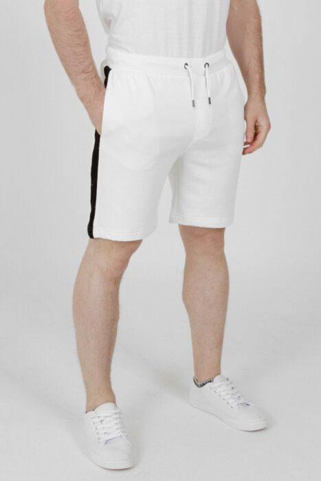 Jersey Short with Panel White