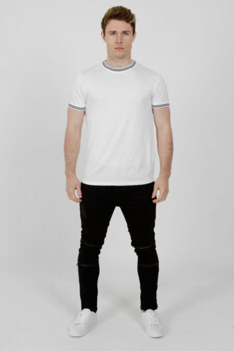 Contrast Tipping T-Shirt White