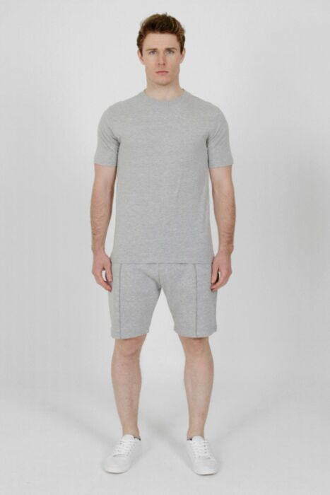 Plain Lining Short-Set in Grey