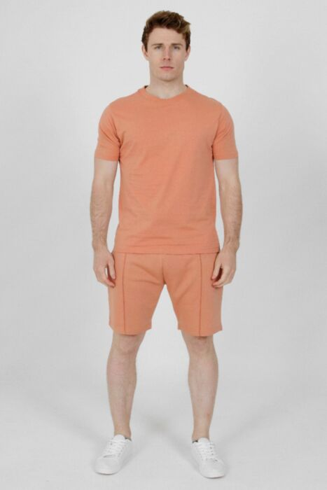 Plain Lining Short-Set in Apricot