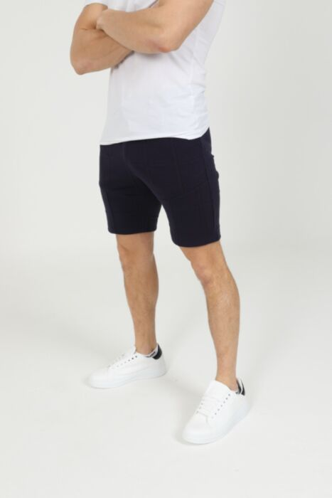 Taupe Shorts in Navy