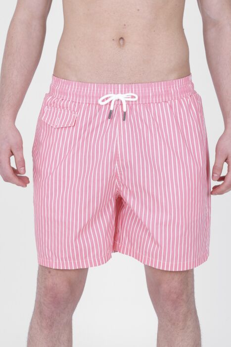 Pink Lined Swimming Shorts
