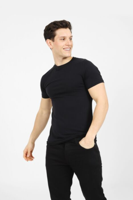Premium Muscle Fit T-Shirt in Black