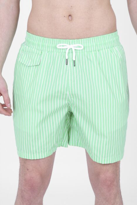 Green Lined Swimming Shorts