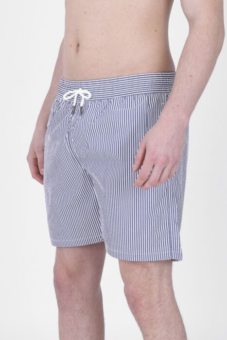 Electric Blue Lined Swimming Shorts