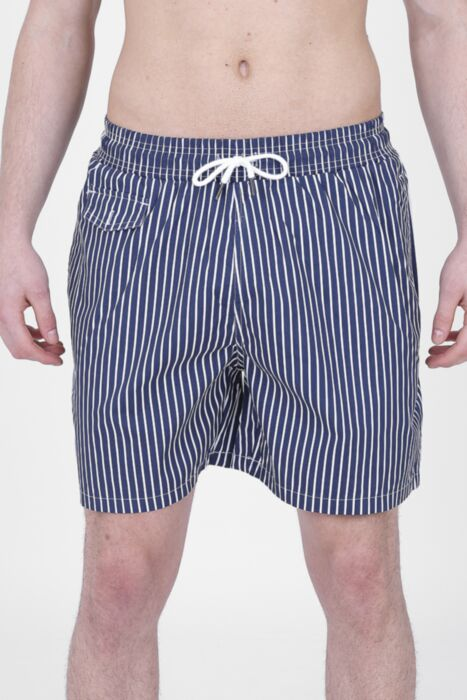 Navy Lined Swimming Shorts