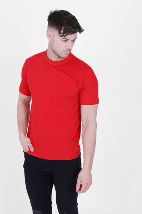 Red 100% Cotton Pure T-Shirt