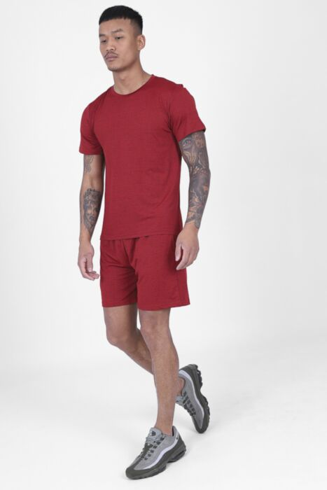 Red Active T-Shirt Set