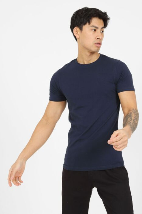 Premium Muscle Fit T-Shirt in Navy