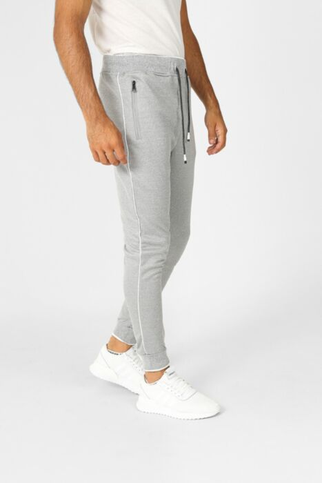 Court Line Tracksuit in Light Grey - Bottom