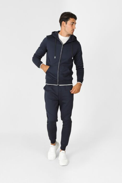 Court Line Tracksuit in Navy - Hoody