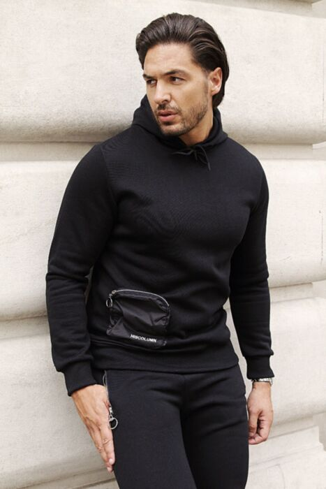 Pouch Tracksuit in Black