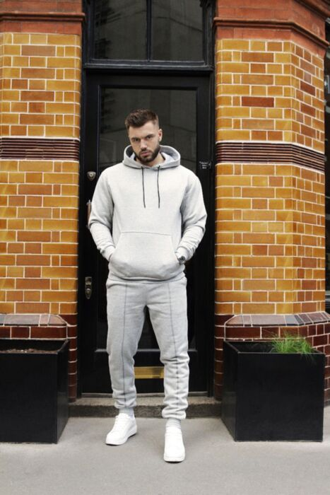HisColumn Design Oversized Tracksuit in Grey
