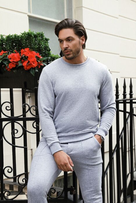 Castell Lux Crewneck Tracksuit in Grey