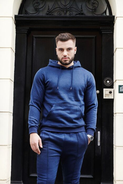 Hoody Lining Tracksuit in Navy