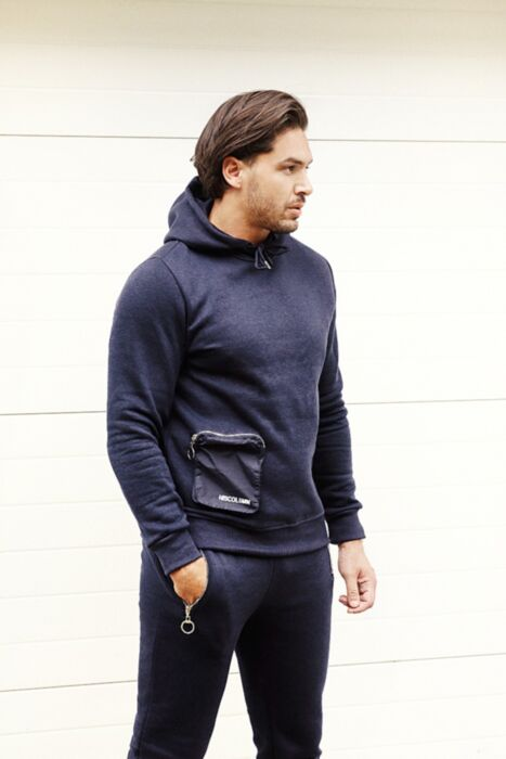 Pouch Tracksuit in Navy
