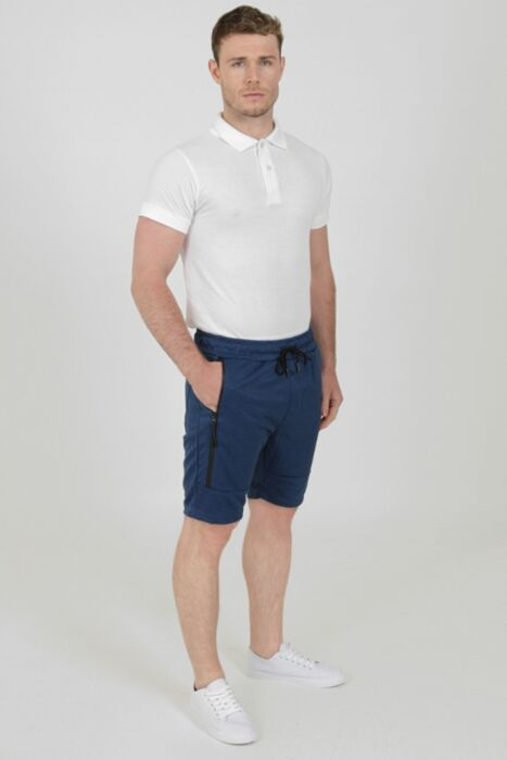 Shorts with Waterproof Zip in Royal Blue