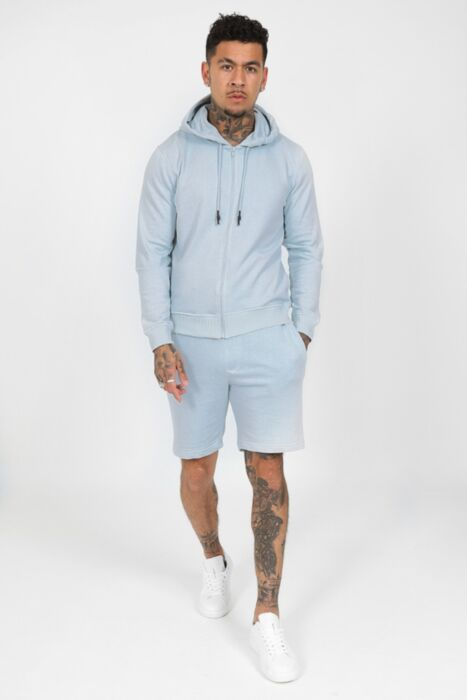 HC Zipped Hoody Tracksuit in Baby Blue