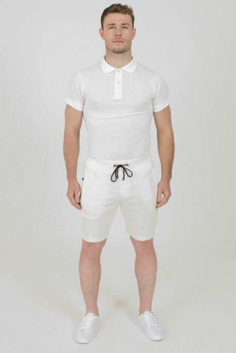 Pique Shorts in Off-White