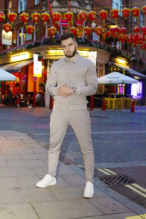 Harrington Style Tracksuit in Grey