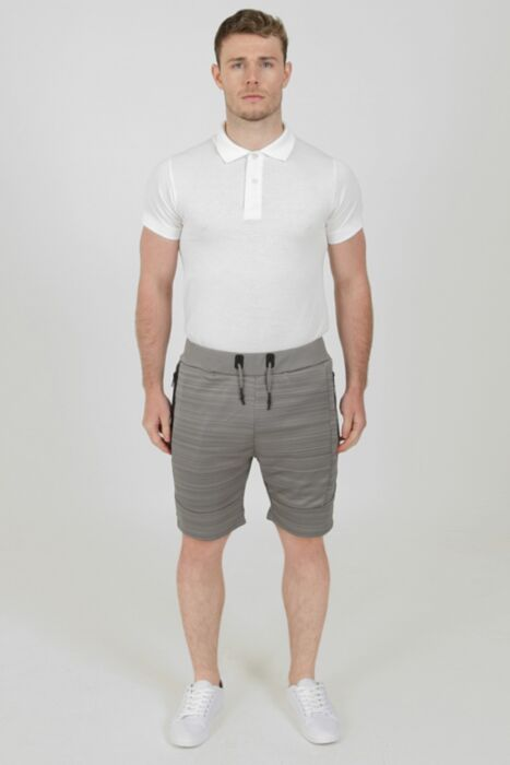 Melange Shorts in Light Grey