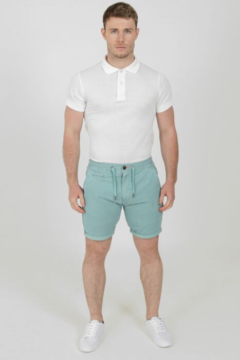 Lined Beach Short in Turquoise