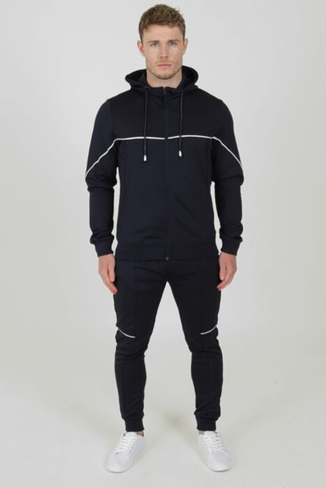 Flare Tracksuit in Navy