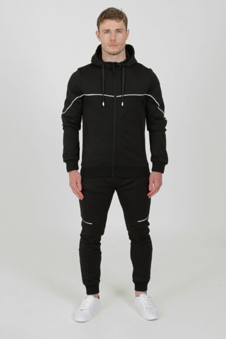 Flare Tracksuit in Black