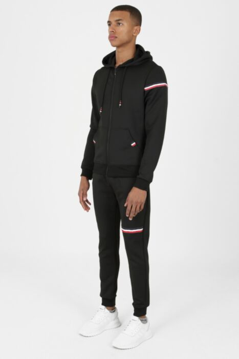 Lux Otto Tracksuit in Black - Hoodie