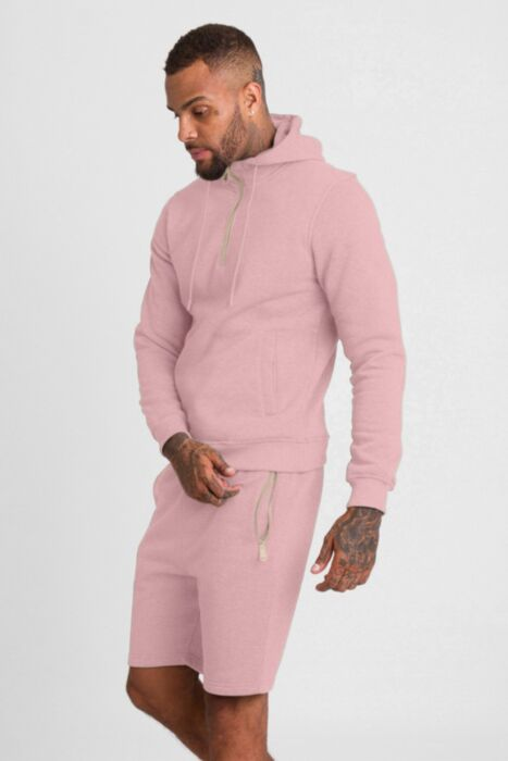 HC Gold Zip Short Tracksuit in Pink