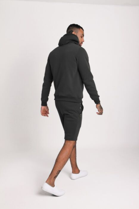 HC Gold Zip Short Tracksuit in Black