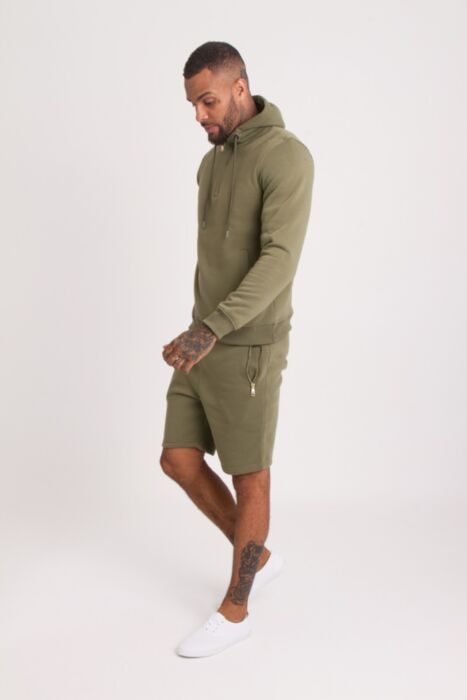 HC Gold Zip Short Tracksuit in Olive