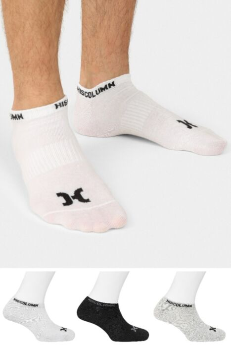 HISCOLUMN DESIGN trainer sports socks 3 pack