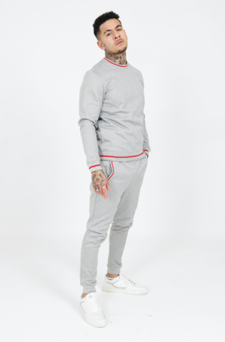 Poly Lined Tracksuit in Grey