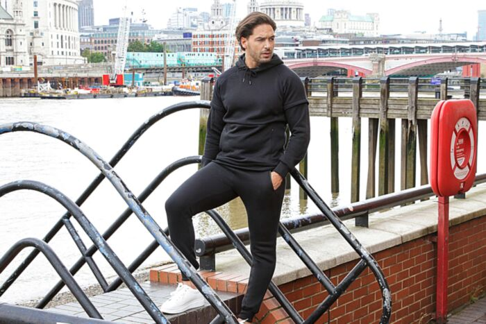 Invisible Zip Tracksuit in Black