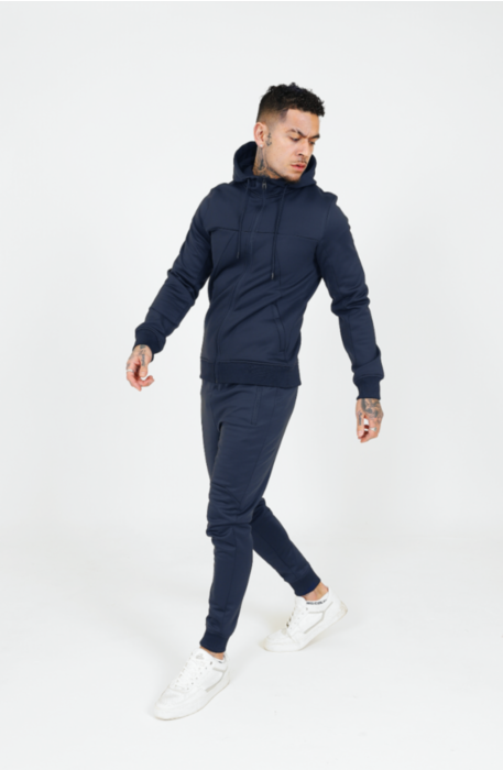Signature Poly Tracksuit in Navy