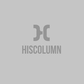 HisColumn Design Puffer Jacket In Navy With Metal Studs
